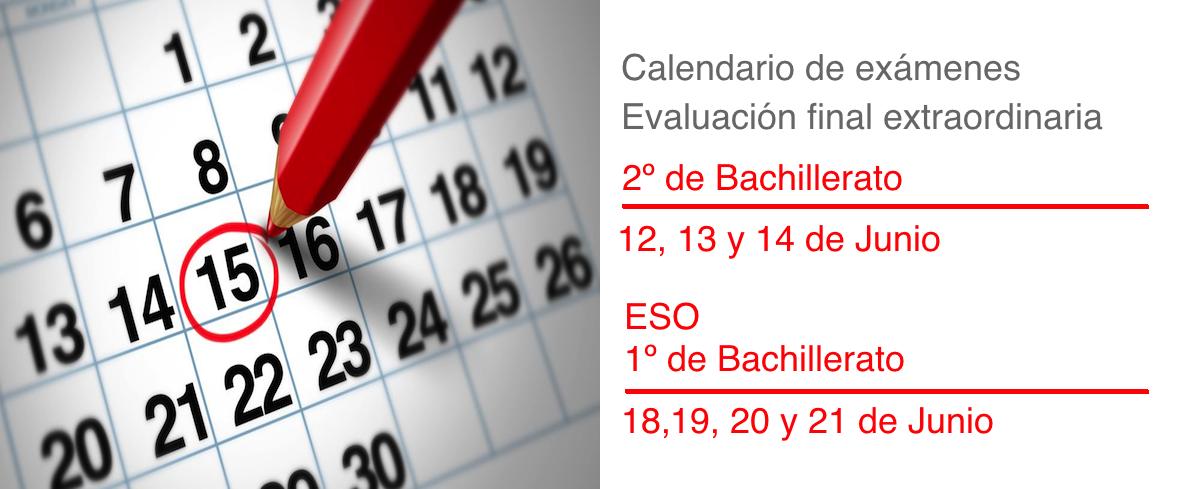 calendario-exámenes-extraordinaria-20182019